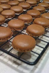 five spice and chocolate macaroons