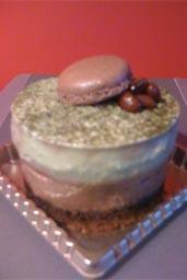 sofa-inspired matcha chocolate mousse cake