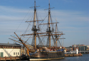Götheborg - a replica that started sailing in 2003.