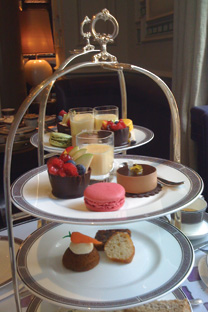 Langham's Wonderland Afternoon Tea - patisserie that forces one to make the painful decision of eating or admiring.