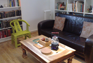 A little corner for guests to relax and try out gongfu cha