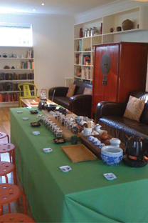 Tea table set up with tea nibbles
