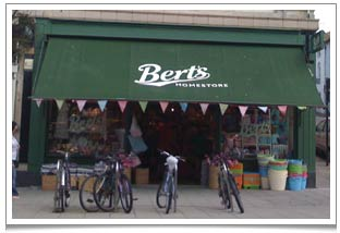 The very interesting Bert's Homestore - Brighton's very own Cath Kidston of sweet little old ladies styled items.