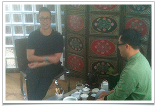 It was such an honour to have Gok Wan filming a TV pilot at Chaya Teahouse!