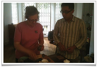 Our first tea artisan training at Chaya Teahouse with Britain's Tea Poet, Elizabeth Darcy Jones.