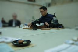 Tea Appreciation Taster Workshops at The British Museum - plum blossom green tea biscuit and madeleine mini cupcake