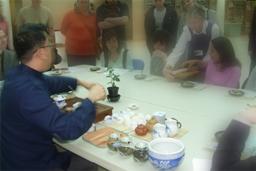 Tea Appreciation Taster Workshops at The British Museum -serving tea