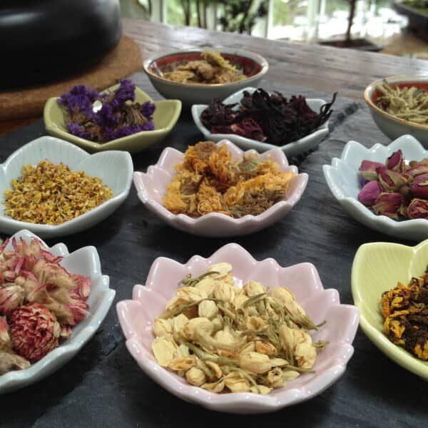 chaya teahouse herbal tisane three flowers