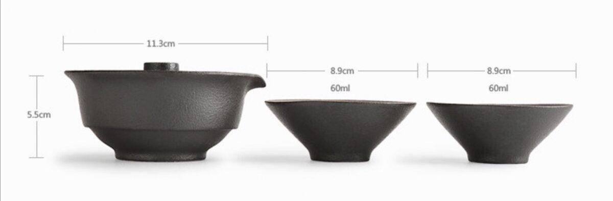 Measurements of Tea pot & cup