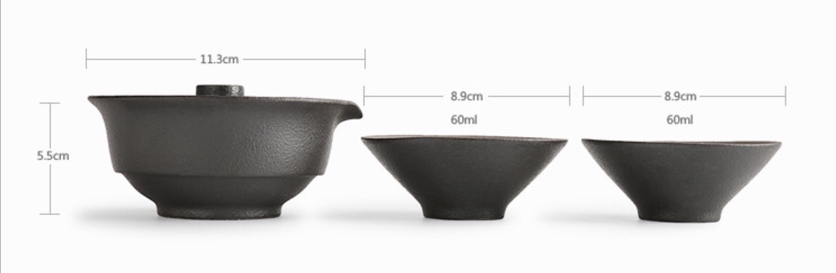 Measurements of Tea pot & cup