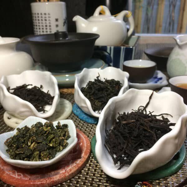 teanamu chaya teahouse oolong tea tasting four black dragons