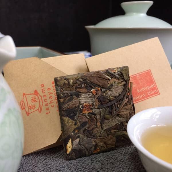 teanamu chaya teahouse white tea kumquat peony thins